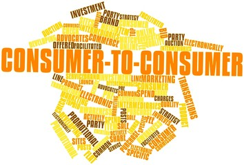 Word cloud for Consumer-to-consumer