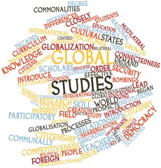 Word cloud for Global studies
