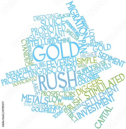 Word cloud for Gold rush