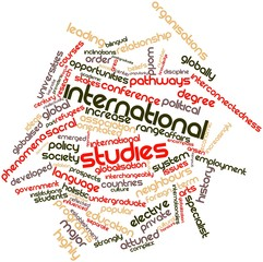 Word cloud for International studies