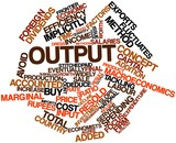 Word cloud for Output poster