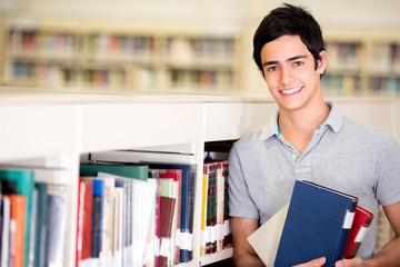 Happy male student