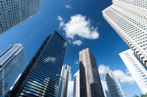Poster 新宿の高層ビル街