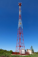 Residential tower with antennas of cellular communication