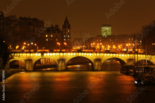 Fototapeten,paris,nacht,his,brücke