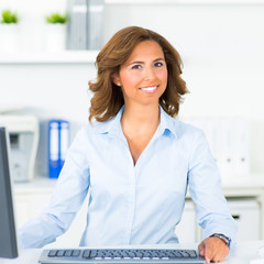 geschäftsfrau am computer