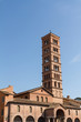 Bell tower of basilica dei Santi Giovanni e Paolo in Rome, Italy