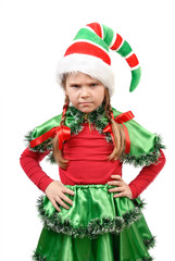 The angry little girl - Santa's elf.