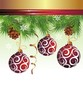 Christmas background vector image with balls
