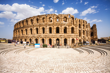 Ruins of the largest colosseum in in North Africa. El Jem,Tunisi