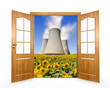 Open the door to the landscape with nuclear power plant