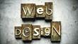 Web design concept with vintage letterpress