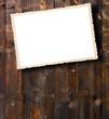 Foto auf Holzwand