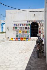 Typical tunisian pottery shop - Tunisia