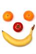 canvas print picture - Gesicht aus Obst