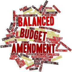 Word cloud for Balanced budget amendment