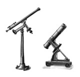 2 Telescopes - 19th century
