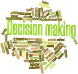 Word cloud for Decision making