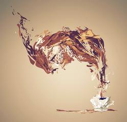 illustration of coffee splash