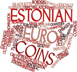 Word cloud for Estonian euro coins