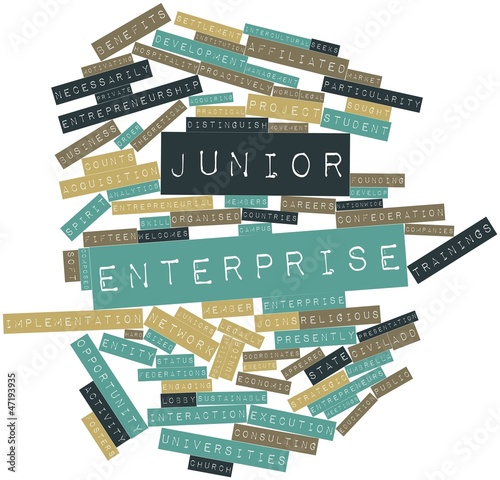 Word cloud for Junior enterprise