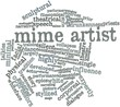 Word cloud for Mime artist