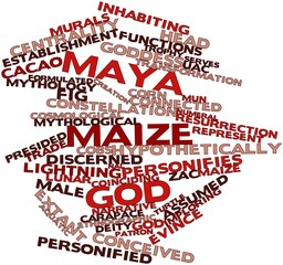 Word cloud for Maya maize god