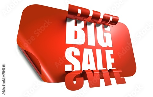 Big sale concept, cut out in sticker