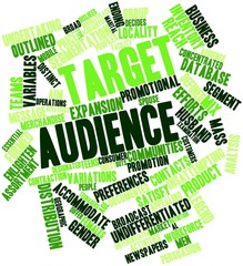 Word cloud for Target audience