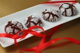 Chokolate crinkles cookies poster