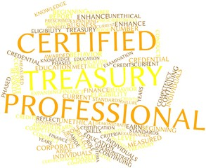 Word cloud for Certified Treasury Professional