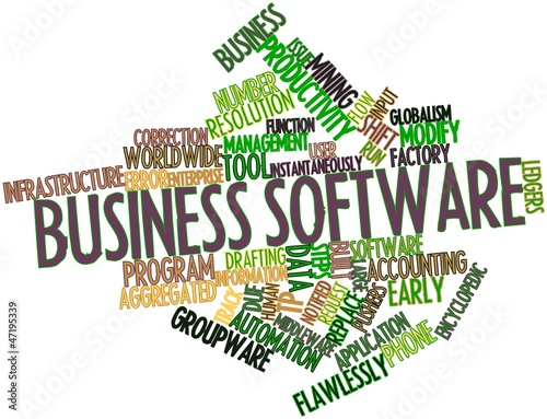 Word cloud for Business software