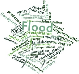 Word cloud for Flood