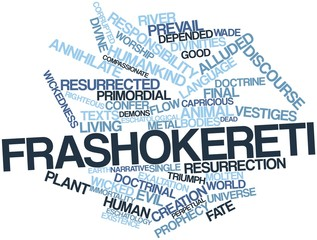 Word cloud for Frashokereti