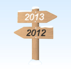 New Year 2013 sign. Vector illustration