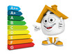 Kleines 3D Haus Orange - Super Energieeffizienz