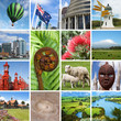 New Zealand landmarks collage