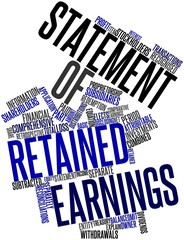 Word cloud for Statement of retained earnings