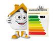 Kleines 3D Haus Orange - Energieausweis Konzept 2