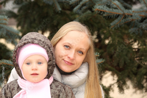 Beautiful mother with her lovely daughter