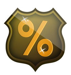 discount percentage shield