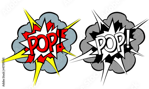 Cartoon explosion pop-art style