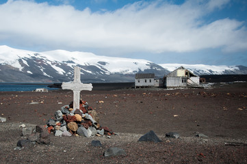 Dramatic landscape in Antarctica