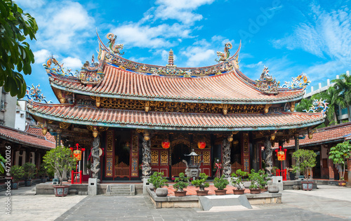 Colorfull buddhist temple in Taiwan