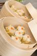 Siu Mai - Chinese pork and shrimp dumplings in bamboo steamers