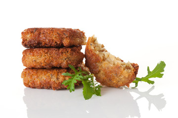 Delicious falafel background.