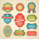 Christmas set - scrapbook labels and emblems.