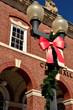 Christmas outside of City Hall