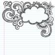Cloud Frame Border Sketchy Back to School Doodles