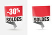 étiquette SOLDES -30%